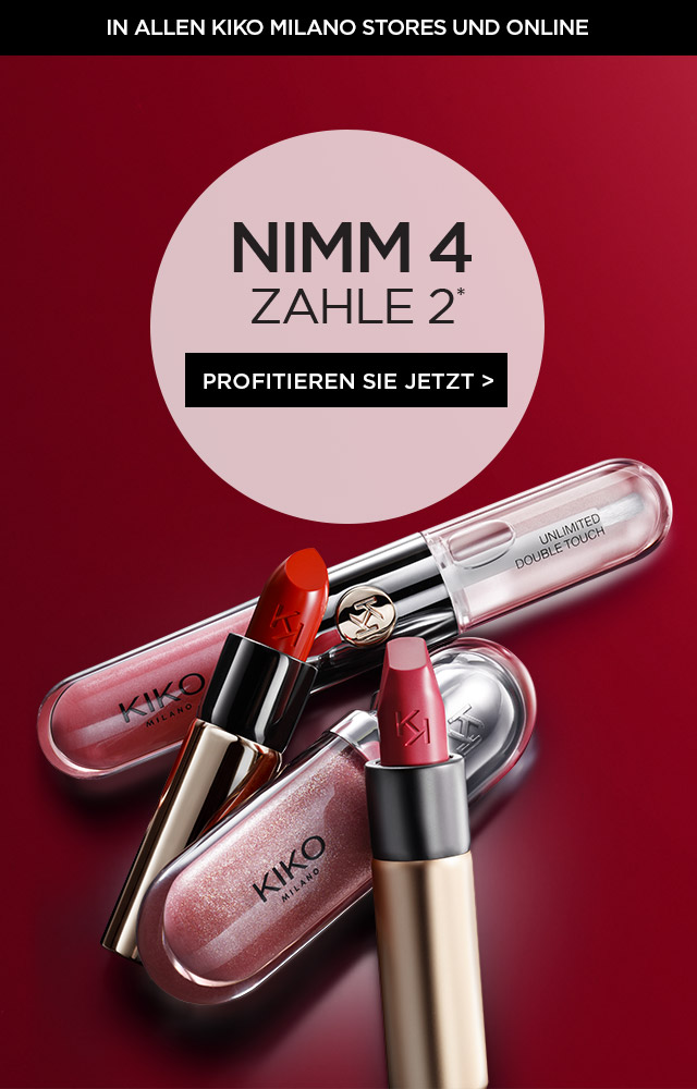 KIKO cosmetics - buy 2 get 2 lip